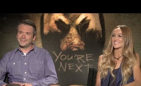 Sharni Vinson and AJ Bowen You're Next Exclusive