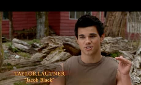 Taylor Lautner on the set of New Moon