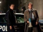 The Dark Knight Rises Still Joseph Gordon-Levitt and Matthew Modine