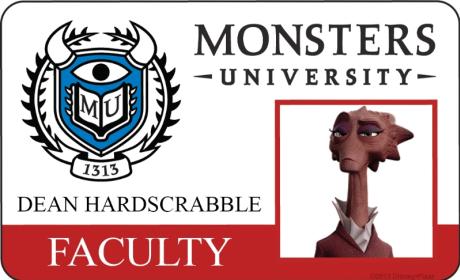 Dean Hardscrabble Monsters University Student ID