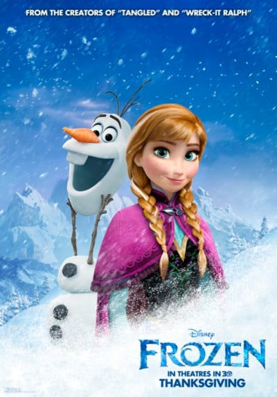 Frozen Anna Olaf Poster