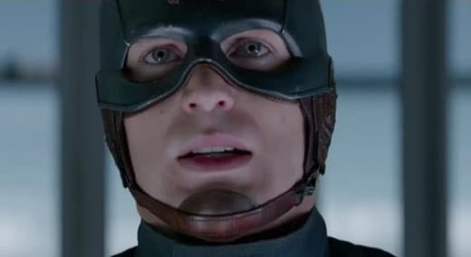 Chris Evans is Captain America in The Winter Soldier