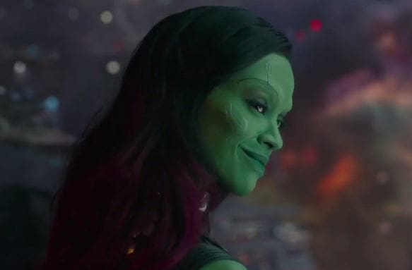 Zoe Saldana is Gamora