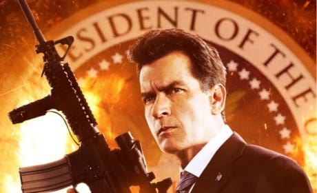 Machete Kills Poster: Charlie Sheen is President!