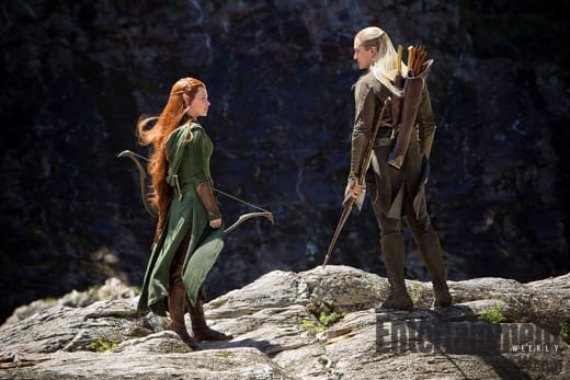 The Hobbit The Desolation of Smaug Evangeline Lilly Orlando Bloom