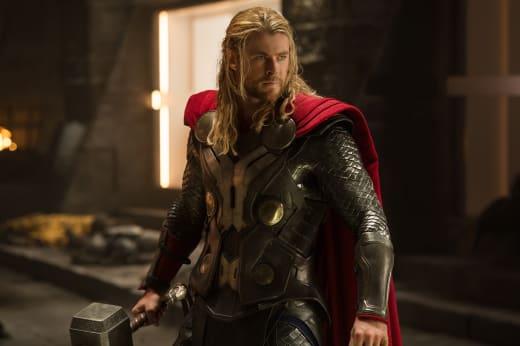 Chris Hemsworth is Thor in Thor: The Dark World