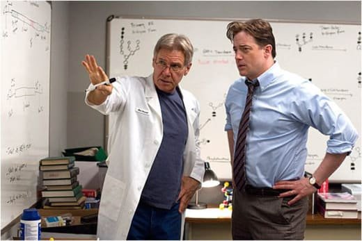 Harrison Ford and Brendan Fraser in the Lab.