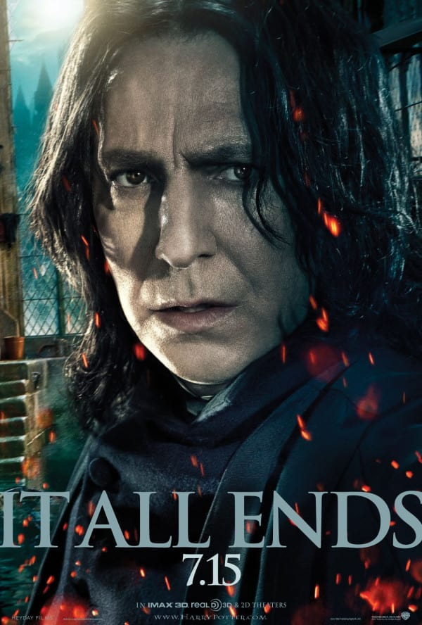 Snape in Harry Potter and the Deathly Hallows Part 2 Poster