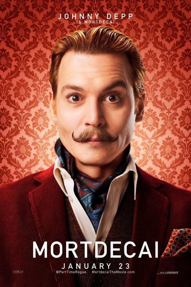 Mortdecai Johnny Depp Character Poster
