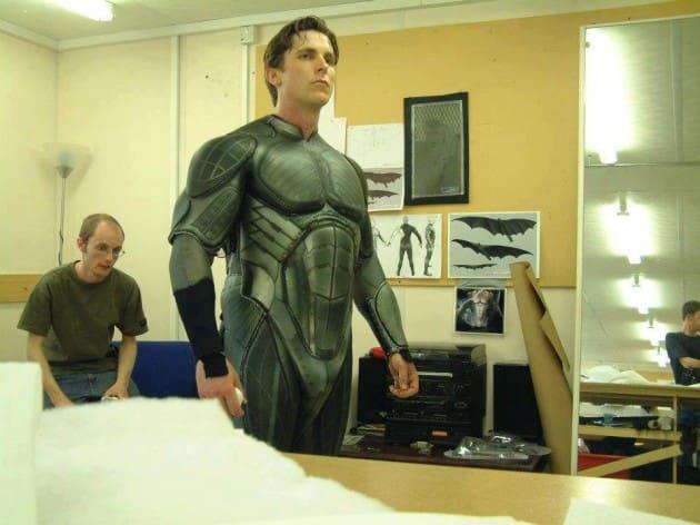 Christian Bale Batman Suit Fitting