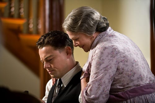 Judi Dench and Leonardo DiCaprio in J. Edgar