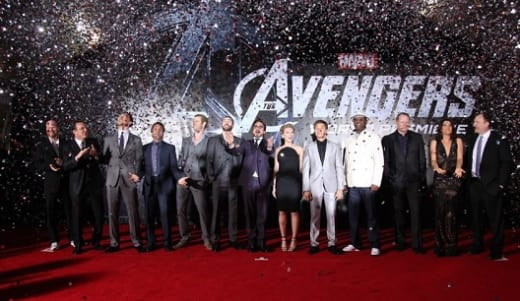 The cast of The Avengers at the Premiere