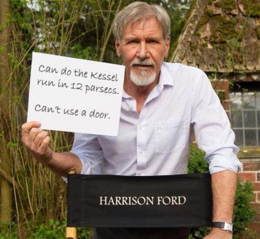 Harrison Ford Injury Photo