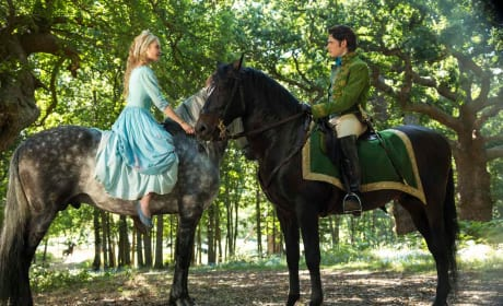 Lily James Richard Madden in Cinderella