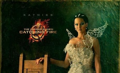Catching Fire Drops Three New Portraits: Katniss, Haymitch, and Cinna