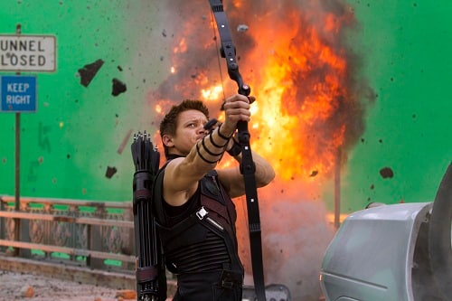 Jeremy Renner Filming The Avengers
