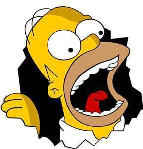 Homer Simpson will eat you!