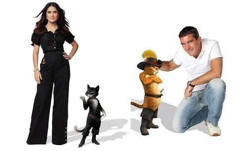 Salma Hayek and Antonio Banderas in Puss in Boots