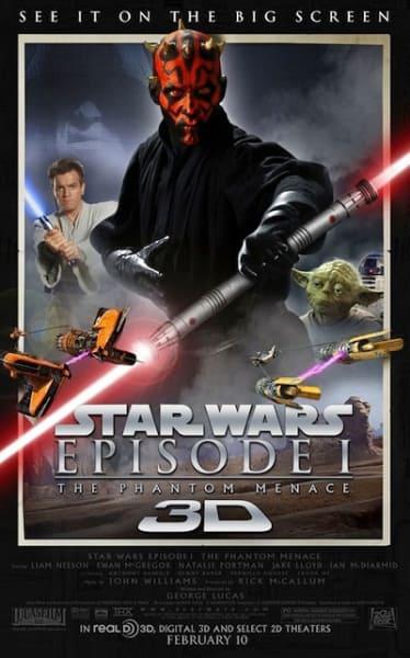 Star Wars Episode 1: The Phantom Menace 3D Poster
