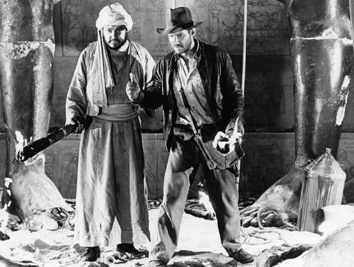 Harrison Ford John Rhys-Davies Raiders of the Lost Ark