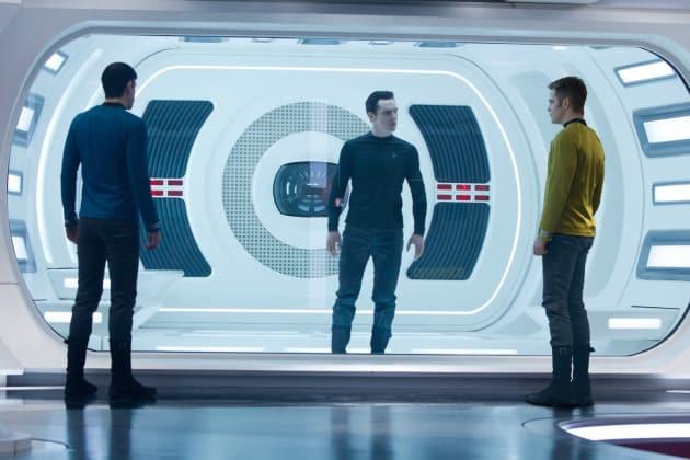 Chris Pine, Zachary Quinto, Benedict Cumberbatch Star Trek Into Darkness
