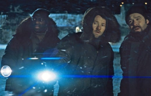 Adewale Akinnuoye-Agbaje and Joel Edgerton in The Thing