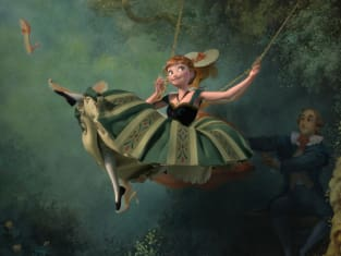 Frozen Swing Painting Anna