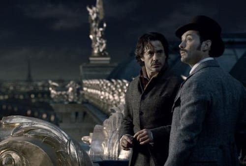 Robert Downey Jr and Jude Law in A Game of Shadows