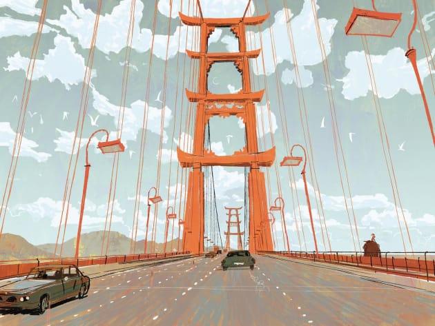 Big Hero 6 San Fransokyo Bridge