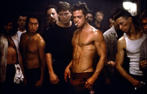 Brad Pitt in Fight Club