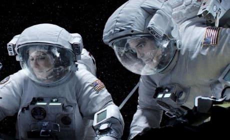 Sandra Bullock George Clooney Gravity