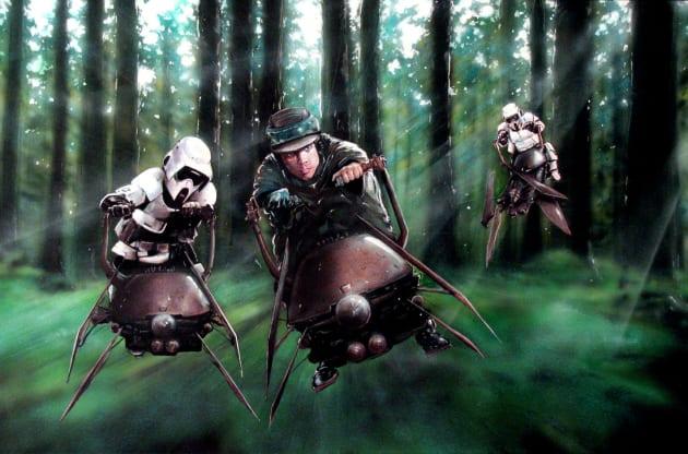 Return of the Jedi Speeder Chase
