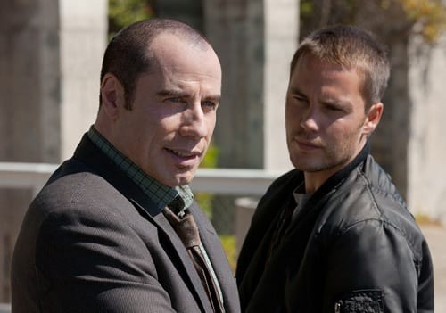 Taylor Kitsch and John Travolta in Savages