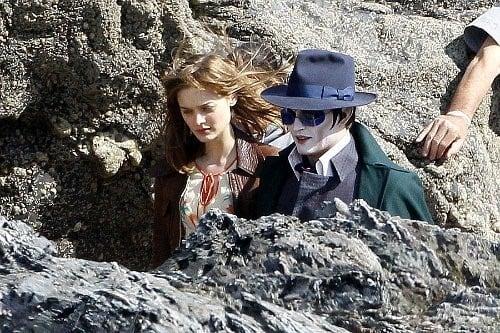 Johnny Depp on Dark Shadows Set