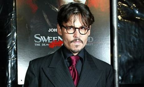 Johnny Depp at the Premiere of Sweeney Todd