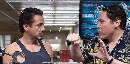 Robert Downey Jr. and Jon Favreau
