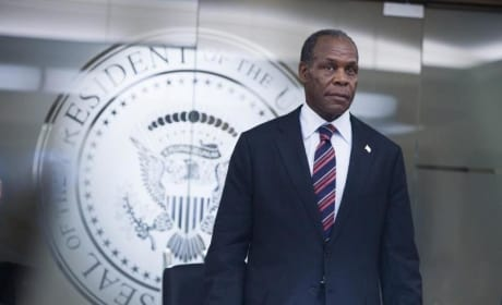 Danny Glover as President Thomas Wilson