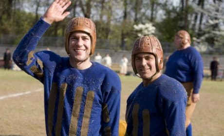 John Krasinski and George Clooney are Leatherheads