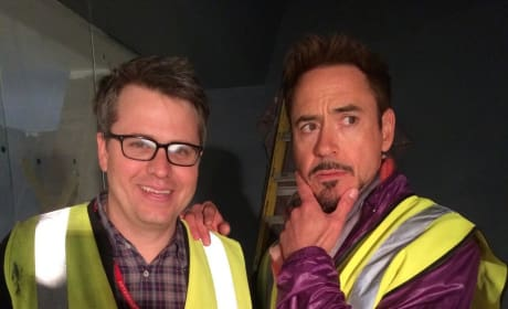 Robert Downey Jr. Avengers Age of Ultron Set Photo