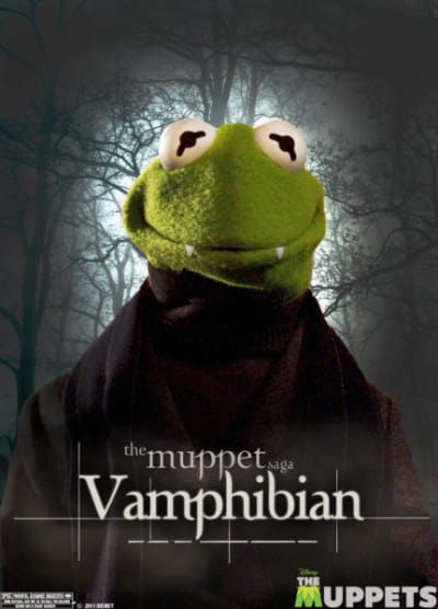 The Muppets Kermit As Edward Poster