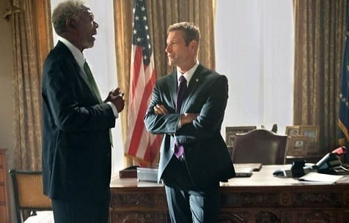 Olympus Has Fallen Aaron Eckhart Morgan Freeman