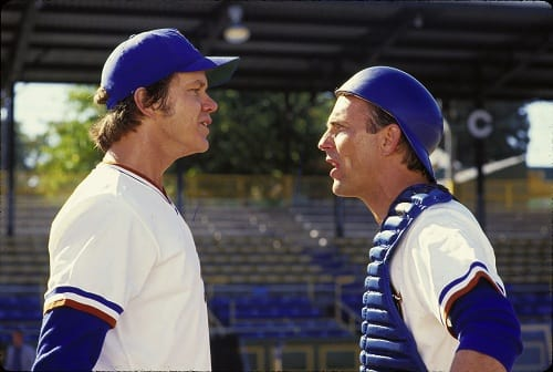 Tim Robbins and Kevin Costner in Bull Durham
