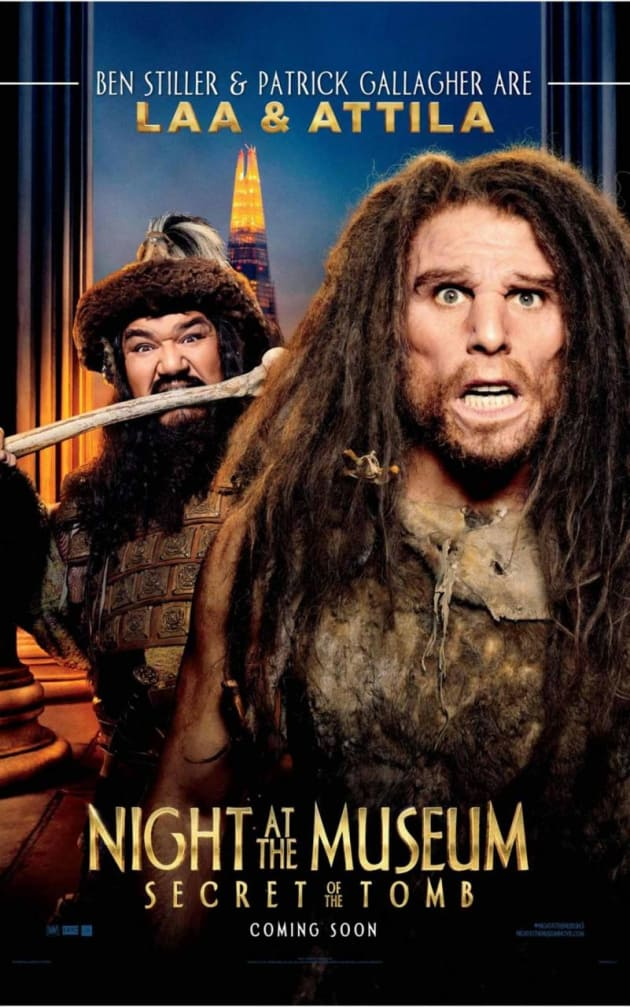 Night at the Museum: Secret of the Tomb Ben Stiller Caveman Poster