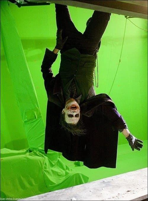 The Dark Knight Heath Ledger Set Photo