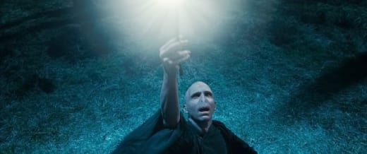 Voldemort Shooting His Wand