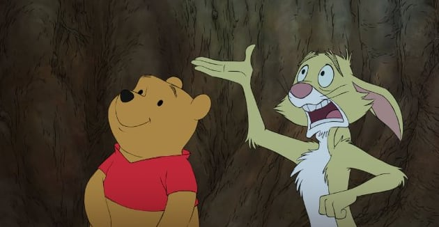 Winnie the Pooh and Rabbit