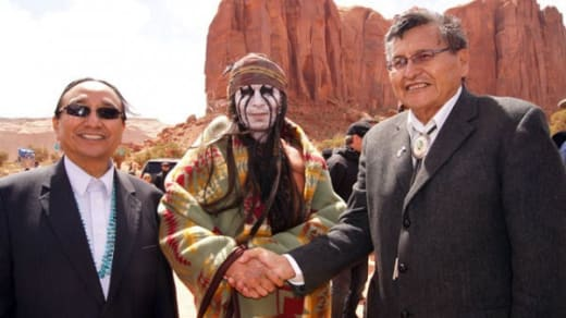 Johnny Depp Meets Navajo Leaders