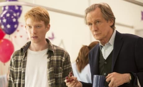Bill Nighy Domhnall Gleeson About Time