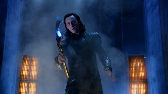 Tom Hiddleston is Loki in The Avengers