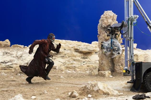 Guardians of the Galaxy Chris Pratt Set Photo